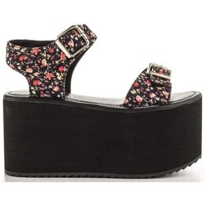 YRU Orion Platforms Floral Sandals Size 8